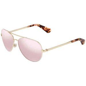 Kate Spade Havana Pink Avaline Aviator Sunglasses